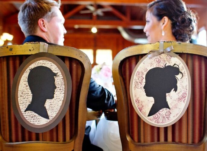 Sillas diseñadas por Cheryl para la boda - Foto Jen Lynne