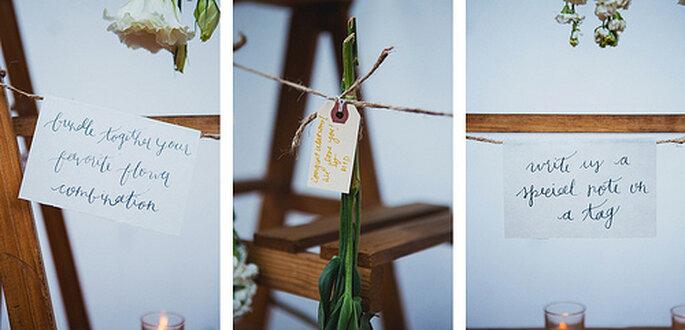 Hochzeitsdekoration mit exotischen Pflanzen