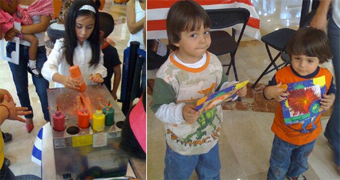 Niños creando sus propias pinturas abstractas - Foto: Gule Guli