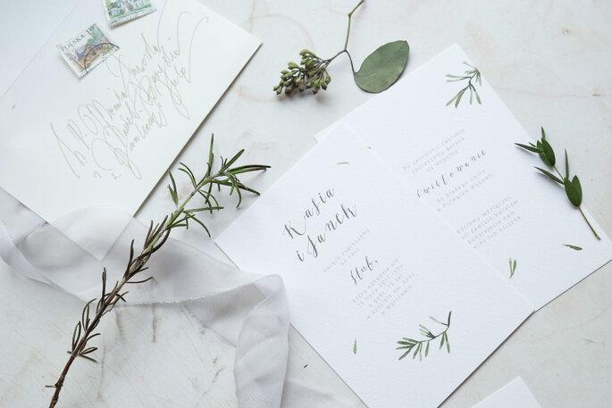 Zaproszenie z rozmarynem Love Prints