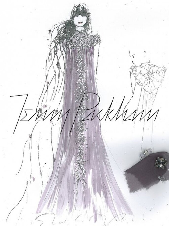 Vestido de novia inspirado en Rapunzel - Foto Jenny Packham