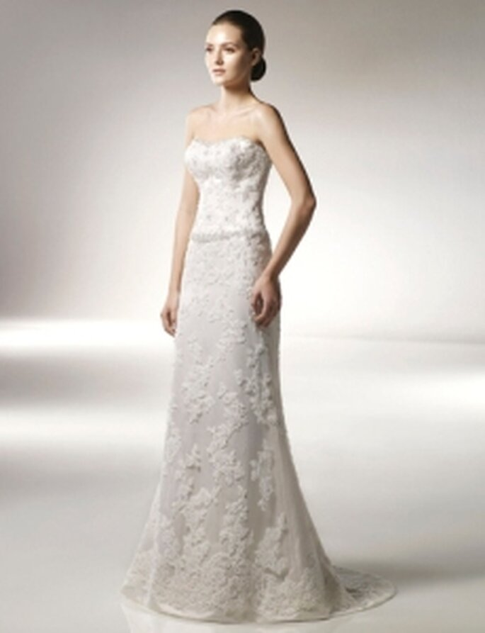 Anjolique 2010 - Vestido largo en tul, corte princesa, esocte palabra de honor