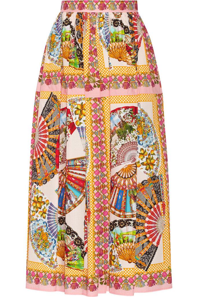 Midi skirt para invitadas de boda - Dolce & Gabbana en Net a Porter