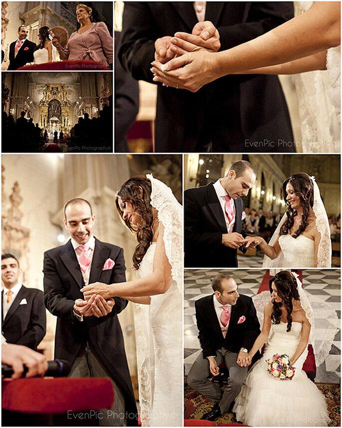 Los novios se casaron en el Sagrario de la Catedral de Sevilla. Foto: Evenpic