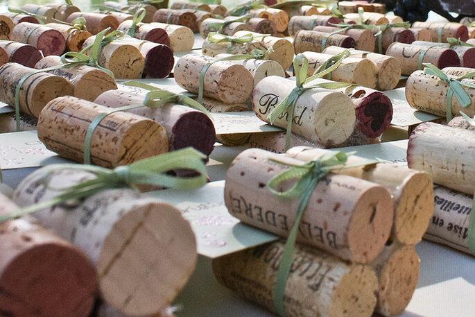 Corchos que pueden sumarse a los detalles de la boda. Foto: Ada Be