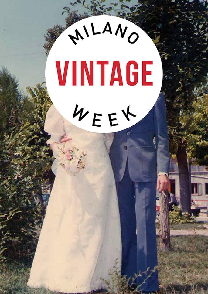 La locandina della mostra Vintage in Love, dedicata alla sposa vintage. Foto via www.milanovintageweek.com