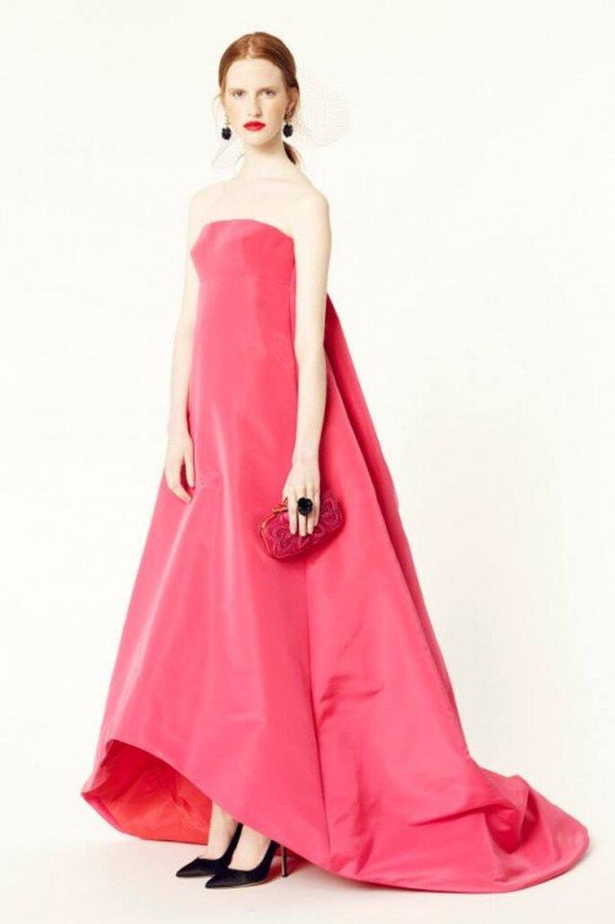 Vestidos de fiesta 2014 súper elegantes y en colores vivos - Foto Oscar de la Renta