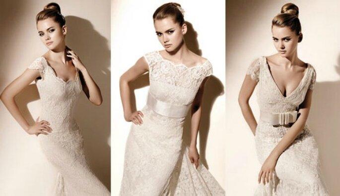 3 modelli in pizzo della Collezione 2010 di Valentino Sposa
