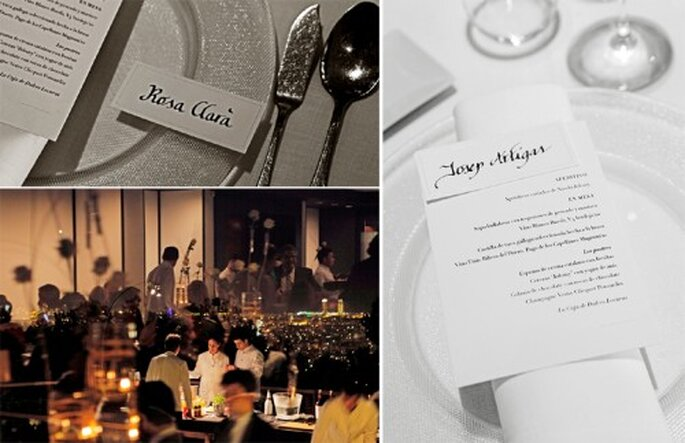Detalles elegantes en un banquete de boda - Foto Rosa Clará