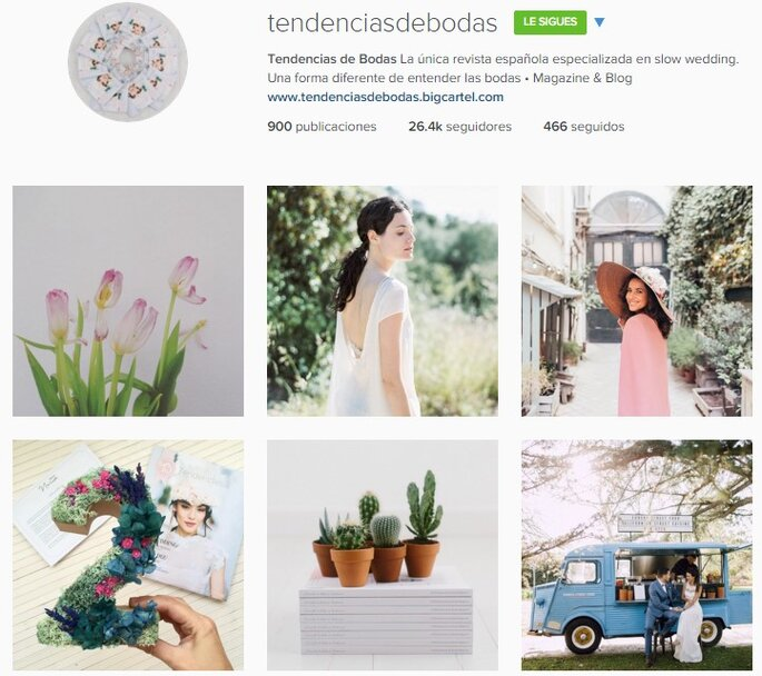 Imagen vía Instagram Tendencias de bodas
