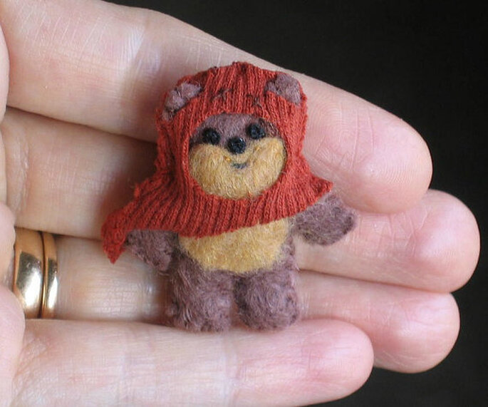 http://www.etsy.com/listing/110624466/ewok-miniature-plush-star-wars-character  by wishwithme