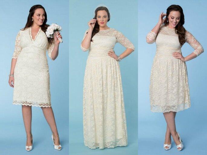 Increíbles vestidos para novias plus size - Foto Kiyonna