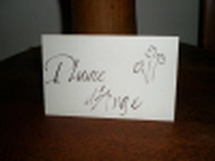calligraphie carton de table