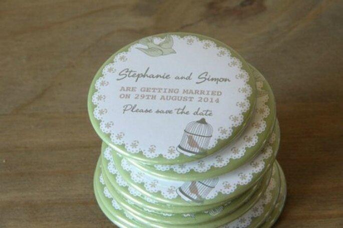Save The Date, version magnet pour le frigo : une top idée ! - Source : Etsy