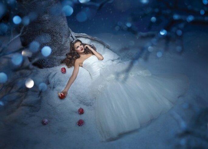 Vestido de novia inspirado en la princesa Blanca Nieves - Foto Alfred Angelo