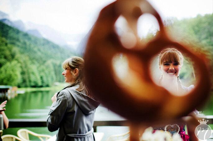 Stets dabei: Die bayrische Brezel. - Foto: Martina Rinke.