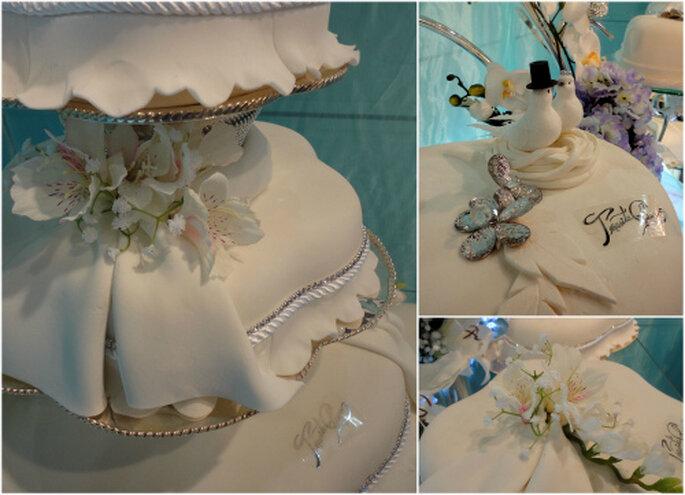 Tartas de boda arquitectónicas de Teresita Chuecos Cake's