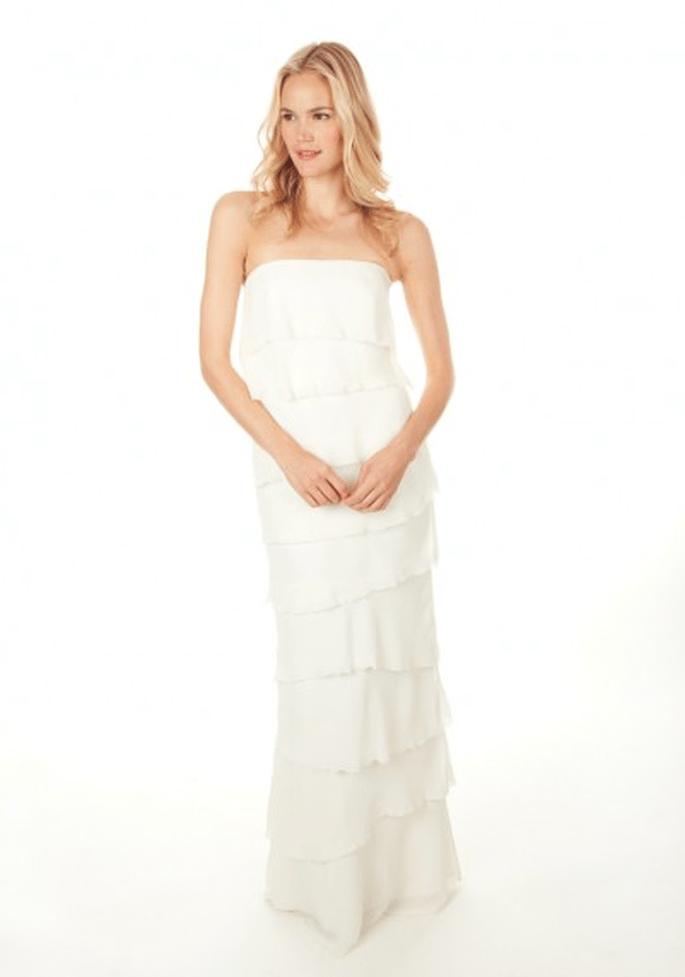 Sencillos y hermosos vestidos de novia 2013 - Foto Nicole Miller