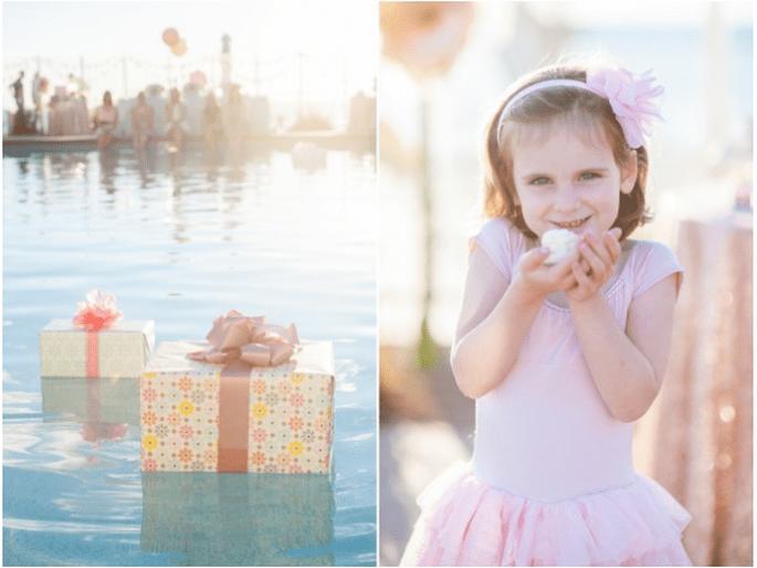 Elige colores como el durazno o rosa pastel para marcar la decoración - Foto Hike Photography