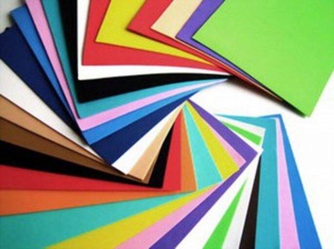 Cartulina de colores para invitaciones