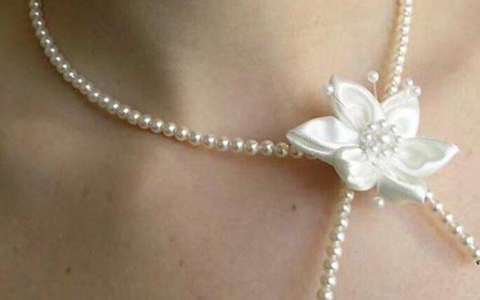 Un collar  de perlas siempre fue el favorito de las novias