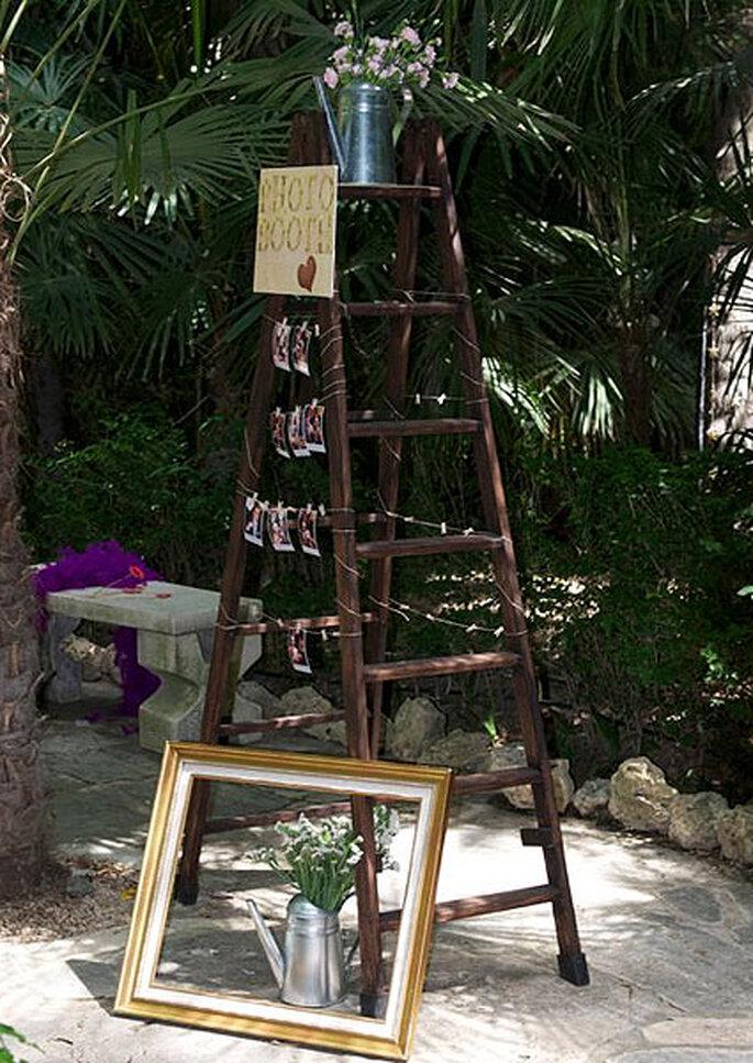 Un tocco vintage al tuo matrimonio all'aperto con Colores de Boda. Foto: Colores de Boda