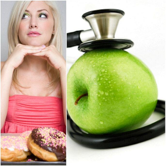Una dieta controlada es la mejor forma de perder peso antes de la boda. Foto: istockphoto