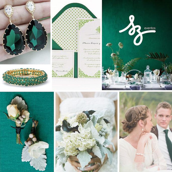 Color esmeralda para la decoración de boda - Etsy, Azul Sahara,