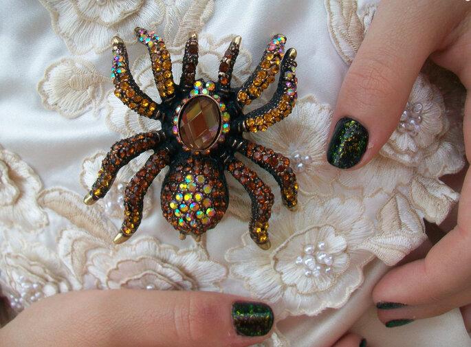 Broche araignée. Photo: www.etsy.com