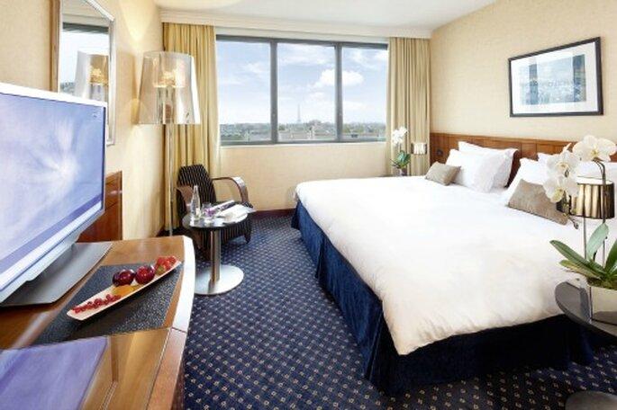 Vos invités pourront se reposer dans l'une des 242 chambres de l'hôtel. Photo: Mövenpick Hotel.