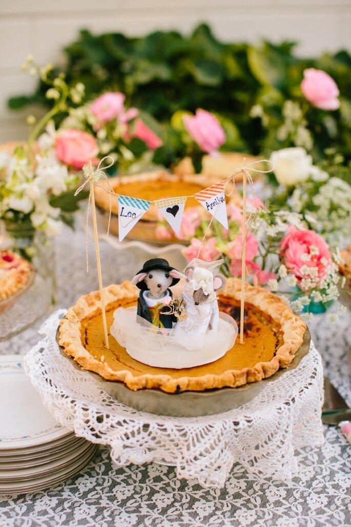 Pasteles de boda que romperán esquemas en 2015 - Foto Mirelle Carmichael Photography