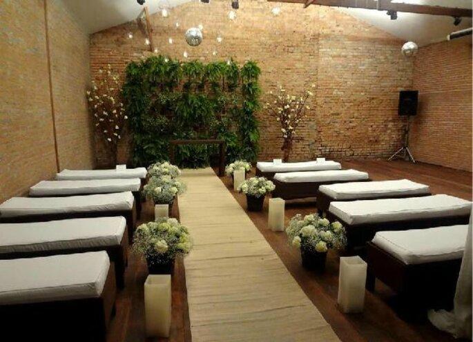 Tiella Eventos, espaço para casamentos com ambientes que lembram uma vila italiana.