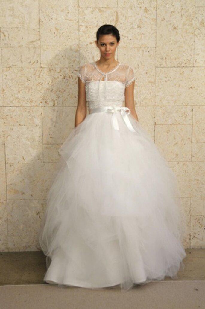 Óscar de la Renta 2012, vestido de novia estilo princesa