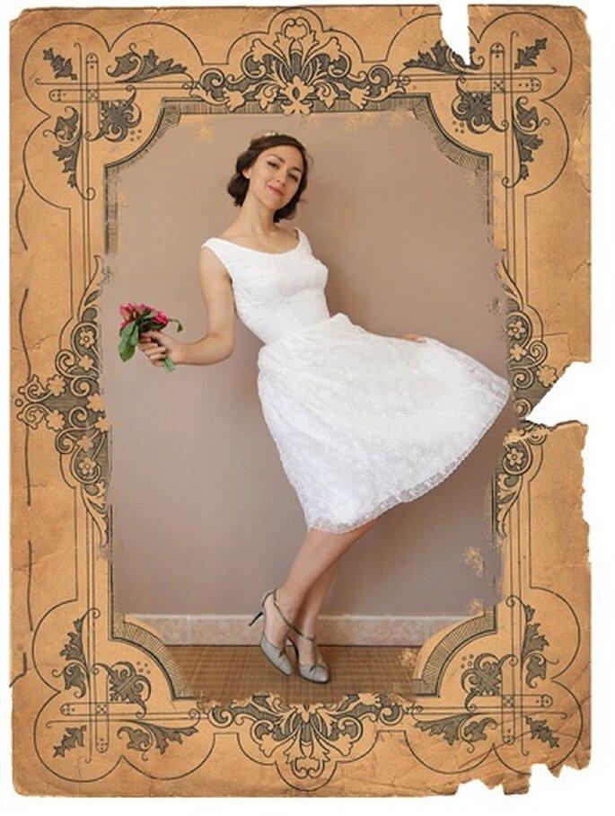 Vestito da sposa anni '60. Foto: Tapouillon Vintage. www.etsy.com/shop/TapouillonVintage