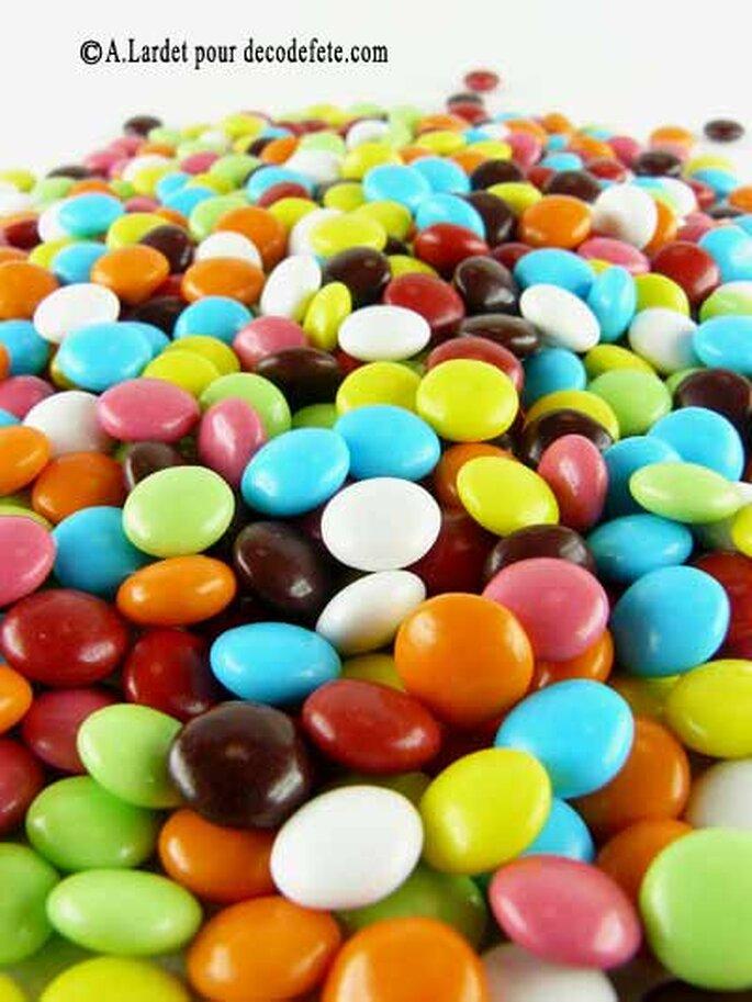Dragées colorées - Decodefete.com