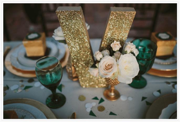 Decoración de mesa de boda inspirada en la Navidad - Foto Studio 222 Photography