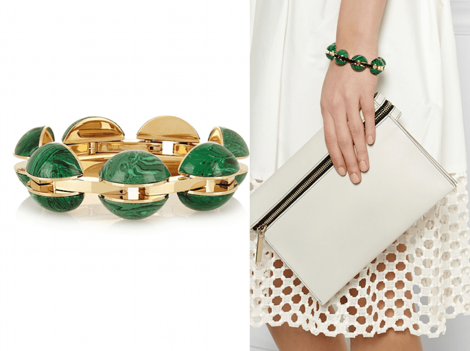 Accesorios para invitada de boda en color verde - Chloé en Net a Porter