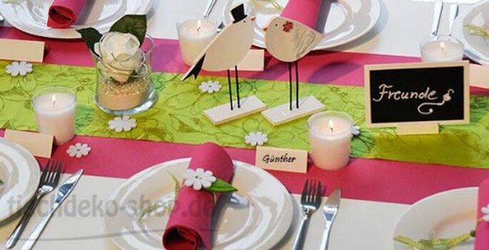 Tischdekoration Hochzeitstafel