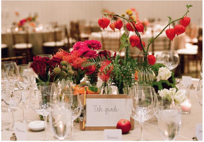Los centros de mesa con flores más elegantes para una boda en 2014 - Foto Meg Smith