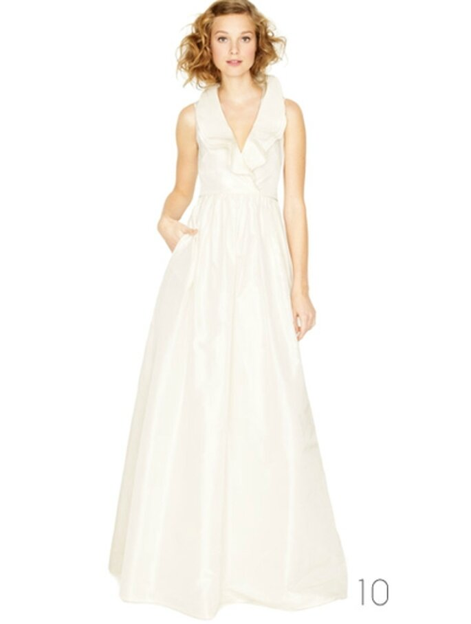 Vestido de novia con cuello estilo halter - Foto: JCrew Wedding Collection 2012