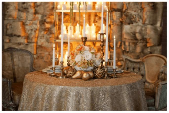 Decoration de de tables de mariage inspirée par Noel - Photo Bellissima Photography