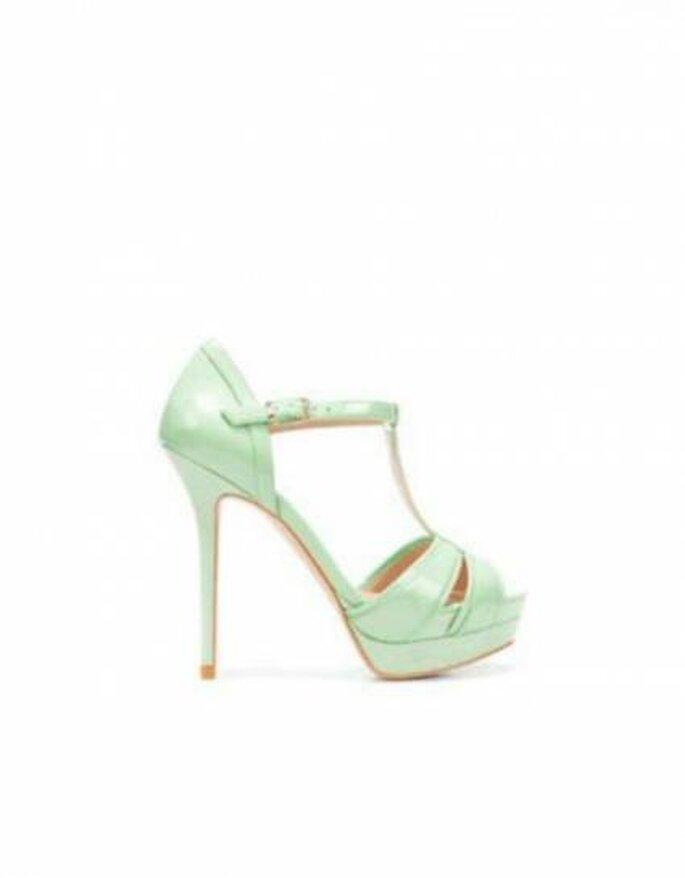 Chaussures vert menthe Zara. Photo: www.zara.com