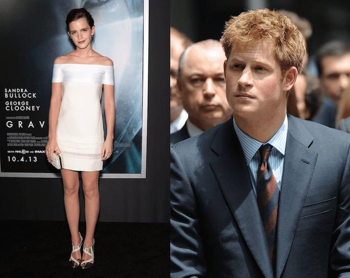 Emma Watson podría ser la nueva chica del Príncipe Harry - Crédito editorial (Harry): Everett Collection / Shutterstock.com y Prabal Gurung Facebook
