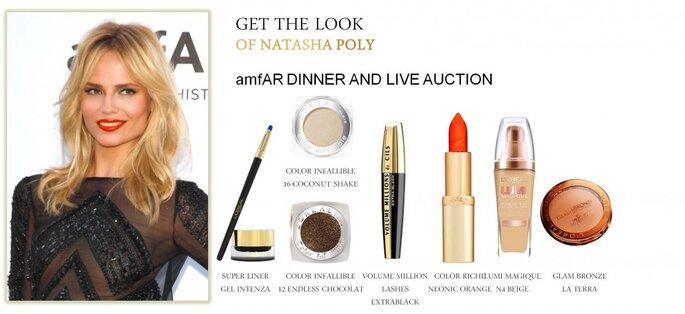 Natasha Poly embajadora de L´OREAL maquillada para la gala del MET. Fotos. Cortesía de L´OREAL