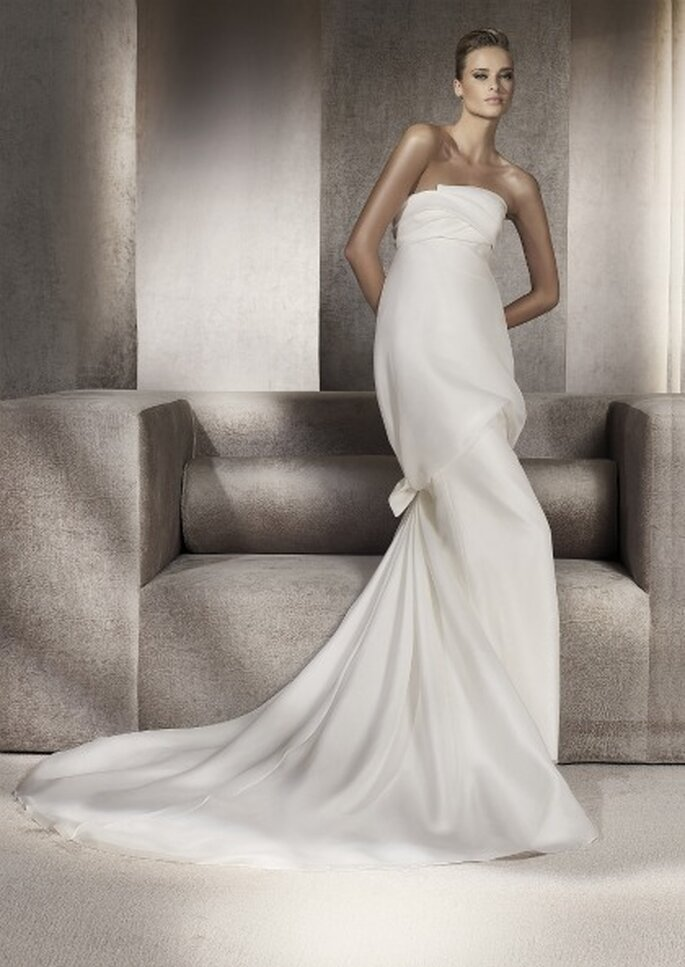Vestido de Noiva da Colecção Manuel Mota 2012 para Pronovias