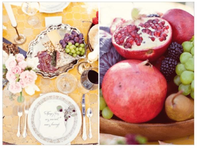 Idées pour décorer votre mariage avec des fruits - Photo Half Orange Photography