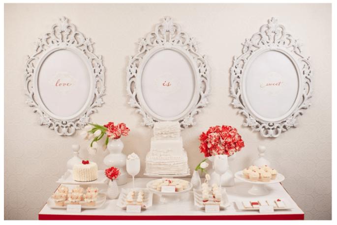 Decoración de boda inspirada en San Valentín - Foto Gabriel Ryan Photography