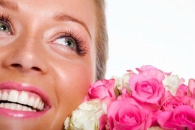 Luce unos dientes blancos el día de la boda