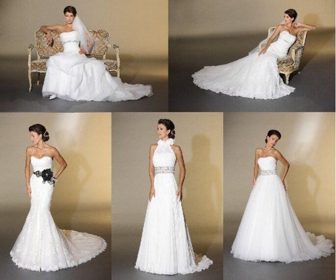 Brautkleider von Très Chic 2012 aus der Kollektion Pure by Elia Moreni Pure Class