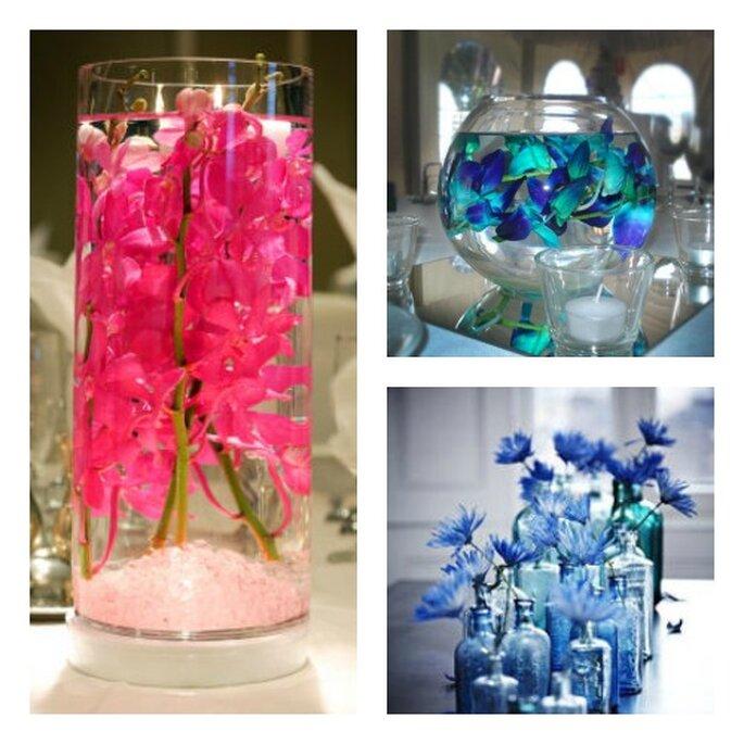 dekoracje weselne kwiaty w wazonach